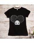 Черная женская футболка с принтом Carla Mara 3207-4: артикул 1110815