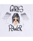 3200-4 белая Akkaya футболка женская с принтом стрейчевая (S-XL, 4 ед.): артикул 1108849