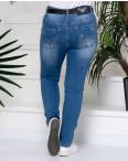 96370 Jo&Jo джинсы женские батальные с царапками весенние стрейчевые (30-36, 6 ед.): артикул 1109175