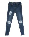 0797 Джинсы женские с рванкой синие весенние стрейчевые (27-34, 7 ед.): артикул 1109183