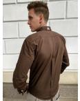 Коричневая мужская рубашка Afish 2978-1: артикул 1110653