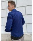 Вельветовая синяя мужская рубашка YXC 0406-4: артикул 1110650