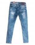 6849 Redcode джинсы мужские c царапками синие весенние стрейчевые (29-36, 8 ед.): артикул 1110125