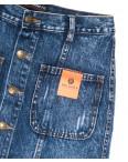 0445-1 V Relucky юбка джинсовая на пуговицах синяя осенняя коттоновая (25-30, 6 ед.): артикул 1110352