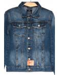 0223-1 A Relucky куртка джинсовая женская с царапками синяя осенняя коттоновая (S-XXL, 6 ед.): артикул 1110372