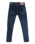 6950 Fashion red джинсы мужские полубатальные с царапками синие стрейчевые (32-40, 8 ед.): артикул 1110251