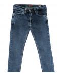 6947 Redcode джинсы мужские полубатальные с царапками синие стрейчевые (32-40, 8 ед.): артикул 1110253