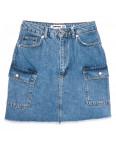 3327 Xray юбка джинсовая синяя весенняя коттоновая (34-40, 6 ед.): артикул 1110394