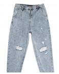 1028 Esqua джинсы-баллон с рванкой синие весенние коттоновые (25-30, 6 ед.): артикул 1110396