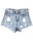 3439 Xray шорты джинсовые женские с рванкой синие коттоновые (34-40,евро, 5 ед.): артикул 1110390