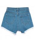 5864 Gecce шорты джинсовые женские с рванкой синие коттоновые (34-40,евро, 6 ед.): артикул 1110391