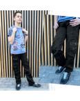 3178 Vigoocc подростковые джинсы карго на мальчика черные коттоновые (6 ед. размеры: 25.26.27.28.29.30): артикул 1112913
