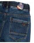 7577 Crossnese джинсы мужские молодежные на резинке на флисе синие зимние стрейчевые (27-34, 8 ед.): артикул 1115557