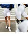 9440-1 женские белые велосипедки  стрейчевые (5 ед. размеры: универсал) #партнер10: артикул 1116654