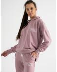 15115-31 Mishely розовый женский спортивный костюм из двунитки (4 ед. размеры: S.M.L.XL): артикул 1123361