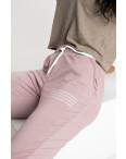 1433-17 Mishely фрезовые женские спортивные брюки из двунитки (4 ед. размеры: S.M.L.XL): артикул 1123958