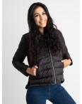 7021-1 куртка женская черная на синтепоне (5 ед. размеры: L-3XL): артикул 1123961