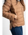 7021-3 куртка женская коричневая на синтепоне (5 ед. размеры: L-3XL): артикул 1123963