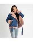 0868-01 куртка женская джинсовая с розовым мехом (1 ед.размер: M): артикул 1123987