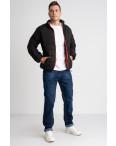8088-1 черная куртка полубатальная мужская на синтепоне (6 ед .размеры : L-5XL): артикул 1124033