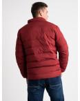 8088-2 бордовая куртка полубатальная мужская на синтепоне (6 ед .размеры : L-5XL): артикул 1124034