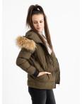 6937-4 куртка хаки женская на синтепоне (6 ед. размеры: M.L.2XL/2.3XL.4XL): артикул 1124263
