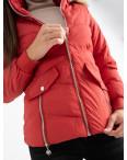 6936-3 куртка красная женская на синтепоне (6 ед. размеры: M.L.2XL/2.3XL.4XL): артикул 1124258