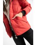 6937-3 куртка красная женская на синтепоне (6 ед. размеры: M.L.2XL/2.3XL.4XL): артикул 1124262
