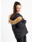 6937-1 куртка черная женская на синтепоне (6 ед. размеры: M.L.2XL/2.3XL.4XL): артикул 1124260
