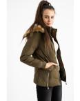 6936-4 куртка хаки женская на синтепоне (6 ед. размеры: M.L.2XL/2.3XL.4XL): артикул 1124259