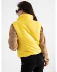 1090-2 Makarna желтая жилетка-безрукавка женская укороченная (6 ед. размеры: S.M/2.L/2.XL): артикул 1124387