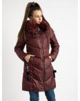 1939-3 бордовая куртка женская на синтепоне (4 ед. размеры: M.L.XL.XXL): артикул 1124486