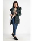 1089 зеленая куртка женская на синтепоне (4 ед. размеры: M.L.XL.XXL): артикул 1124479