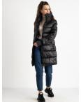 8802-1 черная куртка женская на синтепоне (4 ед.размеры: M.L.XL.XXL): артикул 1124556