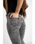 6050 New Jeans американка на флисе серая стрейчевая (6 ед.размеры: 25.26.27.28.29.30): артикул 1124599