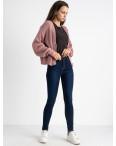 6044 New Jeans американка синяя стрейчевая на байке (6 ед.размеры: 25.26.27.28.29.30): артикул 1124597