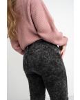 6025 New Jeans американка на флисе батальная серая стрейчевая (6 ед.размеры: 31.32.33.34.35.36): артикул 1124610