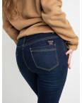 6042 New Jeans американка  на флисе батальная синяя стрейчевая (6 ед.размеры: 31.32.33.34.35.36): артикул 1124612