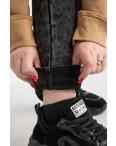 6026 New Jeans американка на флисе полубатальная серая стрейчевая (6 ед.размеры: 28.29.30.31.32.33): артикул 1124602