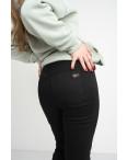 6032 New Jeans американка черная полубатальная стрейчевая на байке (6 ед.размеры: 28.29.30.31.32.33): артикул 1124606