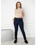 6046 New Jeans американка на флисе полубатальная синяя стрейчевая (6 ед.размеры: 28.29.30.31.32.33): артикул 1124605