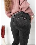 6018 New Jeans американка на флисе полубатальная серая стрейчевая (6 ед.размеры: 28.29.30.31.32.33): артикул 1124603