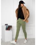 0011-4 хаки спортивные штаны женские на флисе (6 ед.размеры: S.M.L.XL.XXL.3XL): артикул 1124654