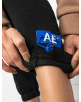 0010-1 черные спортивные штаны женские на флисе (6 ед.размеры: S.M.L.XL.XXL.3XL): артикул 1124638