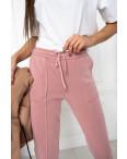 0011-2 розовые спортивные штаны женские на флисе (6 ед.размеры: S.M.L.XL.XXL.3XL): артикул 1124650