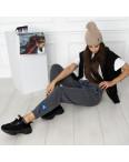 0010-5 темно-серые спортивные штаны женские на флисе (6 ед.размеры: S.M.L.XL.XXL.3XL): артикул 1124640