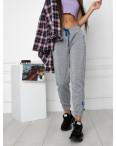 0010-6 серые спортивные штаны женские на флисе (6 ед.размеры: S.M.L.XL.XXL.3XL): артикул 1124639