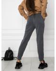 0011-5 темно-серые спортивные штаны женские на флисе (6 ед.размеры: S.M.L.XL.XXL.3XL): артикул 1124653