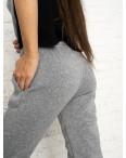0012-6 серые спортивные штаны женские на флисе (6 ед.размеры: S.M.L.XL.XXL.3XL): артикул 1124647