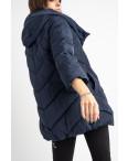 8661-2 синяя куртка женская на синтепоне рукав 3/4  (4 ед .размеры:L.XL.2XL.3XL): артикул 1125054